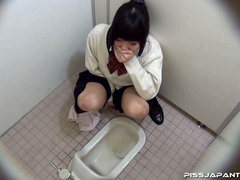 Cute Asian chick in school uniform take a piss - XXXonXXX - Pic 13