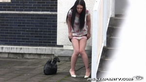 Chicks pissing outdoor gets interrupted but still spray water right out in public - XXXonXXX - Pic 6