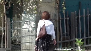Public pissing action as pressed cute dressed girls just have to let go and pee - XXXonXXX - Pic 2