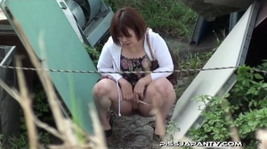 Public pissing action as pressed cute dressed girls just have to let go and pee - XXXonXXX - Pic 7