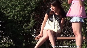 Shy Asian taking a pee gets interrupted before she lets hot pee flow outdoors - XXXonXXX - Pic 12