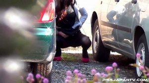 Pretty Asian babes taking a piss outdoors get caught on camera and run to hide - XXXonXXX - Pic 2