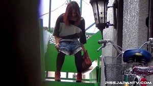 Pretty Asian babes taking a piss outdoors get caught on camera and run to hide - XXXonXXX - Pic 8