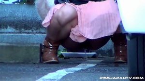 Pretty Asian babes taking a piss outdoors get caught on camera and run to hide - XXXonXXX - Pic 12
