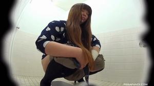 Secret camera in strain station toilet catch Asian babes splashing hot pee - XXXonXXX - Pic 15