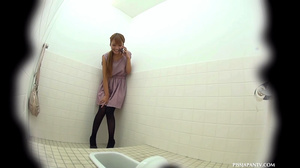 Sexy pink pussies jetting out hot piss in toilet caught on secret spy camera - XXXonXXX - Pic 4
