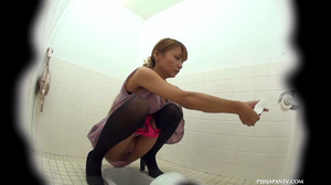 Sexy pink pussies jetting out hot piss in toilet caught on secret spy camera - XXXonXXX - Pic 9
