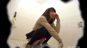 Sexy pink pussies jetting out hot piss in toilet caught on secret spy camera - XXXonXXX - Pic 16