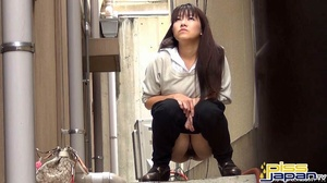 Pretty Asian damsels hide to pee outdoors not knowing of secret spy camera - XXXonXXX - Pic 1
