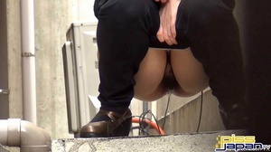 Pretty Asian damsels hide to pee outdoors not knowing of secret spy camera - XXXonXXX - Pic 2