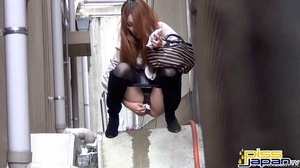 Pretty Asian damsels hide to pee outdoors not knowing of secret spy camera - XXXonXXX - Pic 5