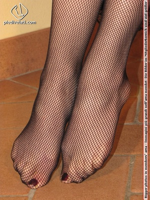 Hot chick in black outfit and boots shows sexy legs and feet in black pantyhose - XXXonXXX - Pic 5