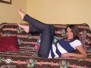 blue sneaker babe struts