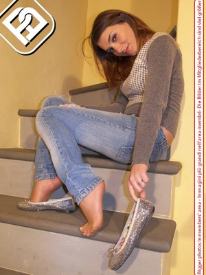 Select broads displaying their lovely feet and legs in various locations. - XXXonXXX - Pic 3