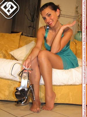 Select broads displaying their lovely feet and legs in various locations. - XXXonXXX - Pic 6