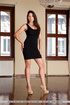 Beautiful toots in a black dress getting naked on…