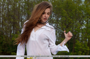 Desirable mare in a white nightgown ges naked by the water. - XXXonXXX - Pic 4