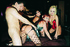 Six sluts in rubber and latex outfits and nylons…
