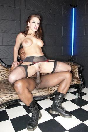 Hot brunette lady in a black polka-dot d - XXX Dessert - Picture 10