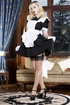 Cute blonde room maid in stockings and neat…