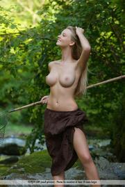 topless hussy brown skirt