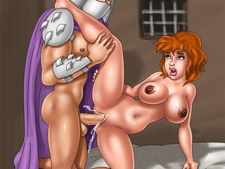 Porn Shredder from TMNT drills April's wet snatch - Picture 1
