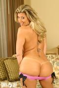 blonde, individual model, stockings, tits