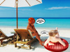 Black guy joins blonde and red chick lezzing on the beach