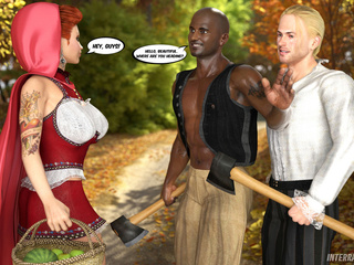 The Little Red Riding-hood's mom rocking with a blond - Picture 2