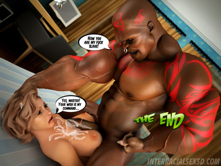 Fair-haired damsel gets mouthfucked hard with a black - Picture 4