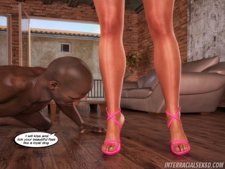 White slave in cuffs watching ginger maitress fucking - Picture 4