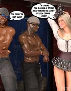 Nasty blonde hooker in a short skirt gets…