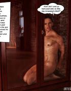 Horny brunette maitress jeering her roped slave…