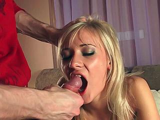 super slutty blonde eats