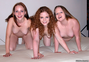 Three sexy female friends get down and dirty with vibrators and a huge red double-ended dildo. - XXXonXXX - Pic 6