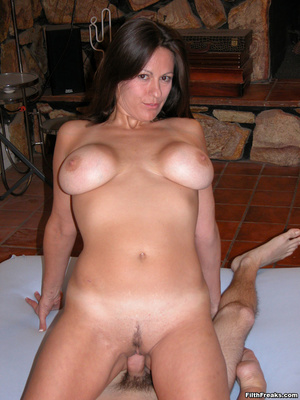 Mature maven with perfectly round tits and tan lines spreads on bed and couch before sex session. - XXXonXXX - Pic 14