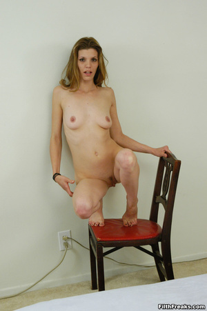 Virginal stunner has sex on her mind posing in a large white bed showing off her precious pussy. - XXXonXXX - Pic 14