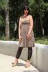 Black leggings don't stop babe in cheetah dress…