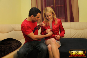 Flawless tart in a red jacket and sneakers gets some doggy in the bedroom. - XXXonXXX - Pic 4