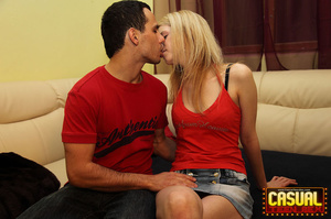 Flawless tart in a red jacket and sneakers gets some doggy in the bedroom. - XXXonXXX - Pic 7