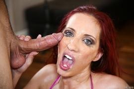 clit, deep throat, redhead, rough sex