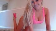 naughty blonde seductive pink