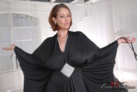 black, dress, individual model