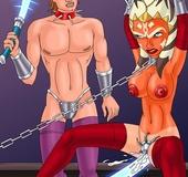 Ahsoka Tano gets fucked with a light saber and…
