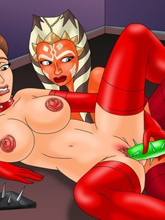 Horny Mistress Ahsoka Tano applies her - BDSM Art Collection - Pic 3