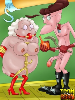 Perverted grandparents enjoy various - BDSM Art Collection - Pic 1
