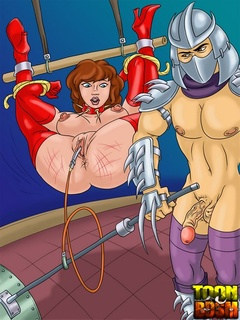 Kinky Shredder punishes bondage April - BDSM Art Collection - Pic 1