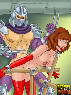 Kinky Shredder punishes bondage April - BDSM Art Collection - Pic 3