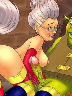 Godmother from porn Shrek prefers huge - BDSM Art Collection - Pic 1