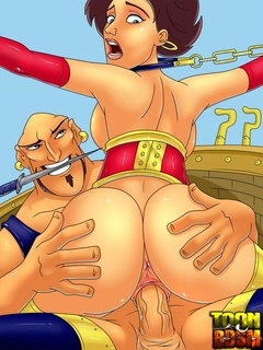 Horny porn Sindbad plowing hot sluts' - BDSM Art Collection - Pic 3